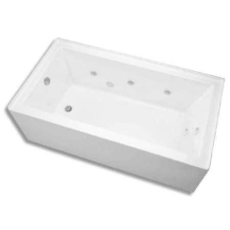 mirabelle bathtubs mirabelle miredw6030lwh white edenton 60 quot x 30 quot three wall