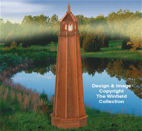 yard garden projects cedar lighthouse woodworking