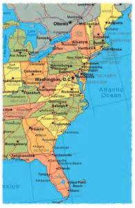 map of us east coast map of east coast maps map cv text biography template