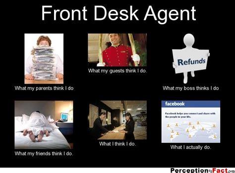 Funny Hotel Memes - hotel front desk agent meme