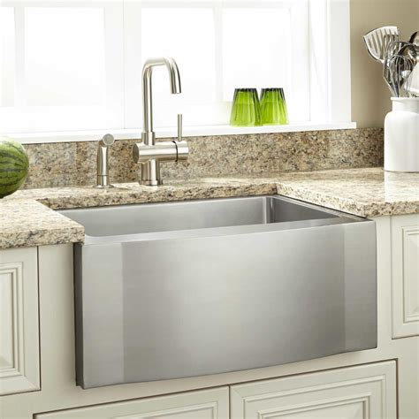Kitchens With Farm Sinks 27 Quot Optimum Stainless Steel Farmhouse Sink Wave Apron Kitchen