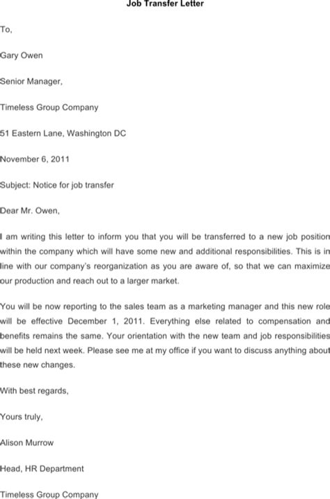 Letter For Rent Reduction Commercial Transfer Letter Templates For Excel Pdf And Word