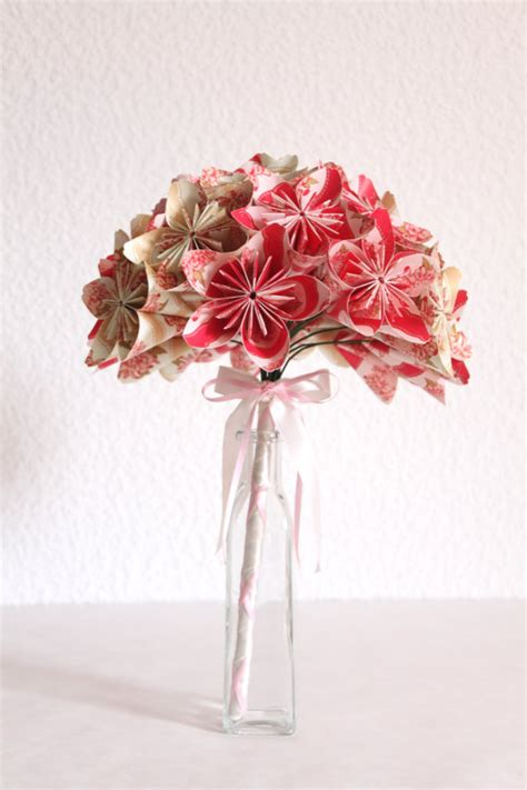 Easy Origami Flower Bouquet - everlasting origami paper flower bouquet meandyoulookbook