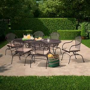 wrought iron patio dining set hamlake 7 wrought iron motion patio dining target