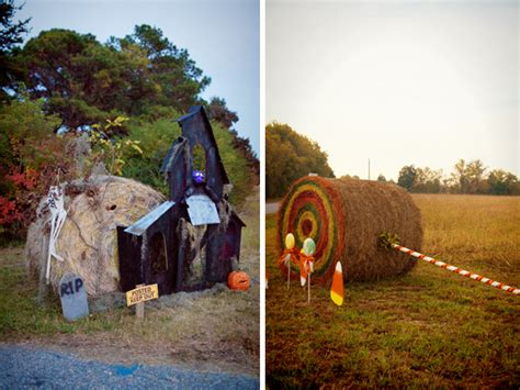 Where To Buy Hay Bales For Decoration by Hay Bale Decorating The Lettered Cottage