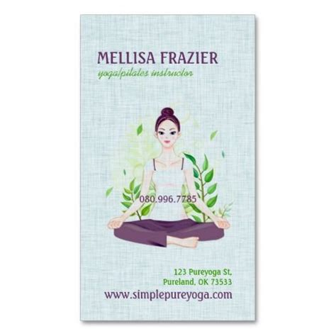 pilates business cards templates 1000 images about instructor business cards on