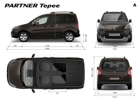 peugeot partner dimensions peugeot partner tepee 7 seater cars