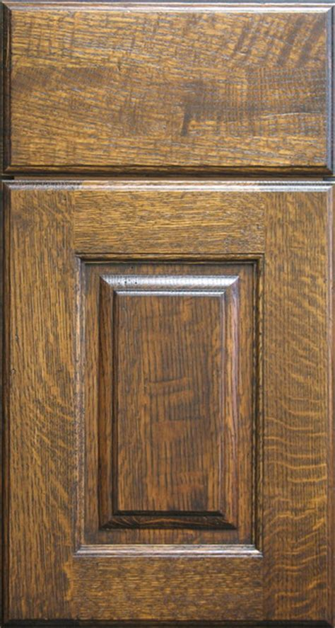 Rustic Kitchen Cabinet Doors Quarter Sawn White Oak Raised Panel Cabinet Door Rustic Kitchen Cabinetry Other Metro By