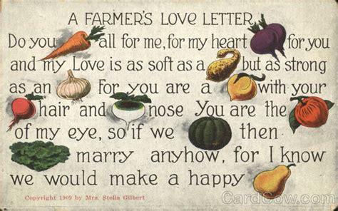 A Farmer's Love Letter Vegetables M Letter In Heart