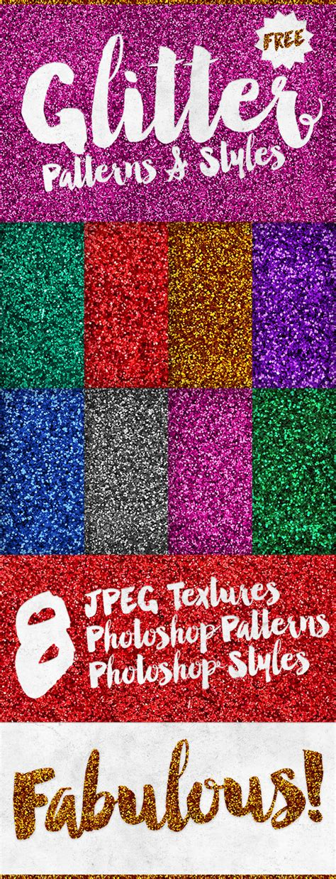 effects free 8 free glitter effect patterns styles for photoshop