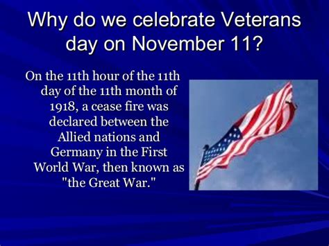 why do we celebrate veterans day2010