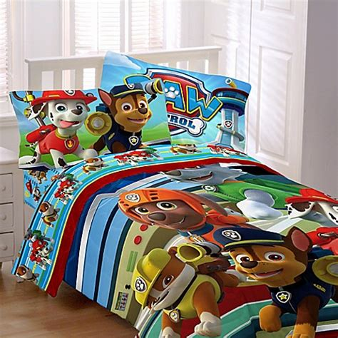 paw patrol bed nickelodeon paw patrol bedding collection www bedbathandbeyond com