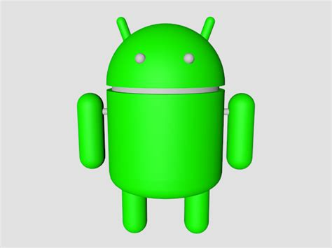 android mascot bugdroid android mascot tech icon 3ds 3d studio max software technology objects