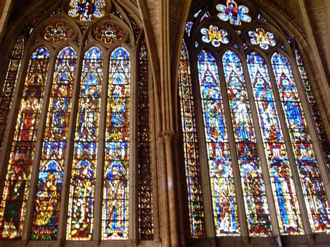 imagenes vidrieras goticas archivo detalle de dos vidrieras del claristorio de la