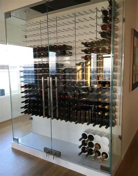 Home Interior Shelves by Glass Enclosed Wine Cellars Stact Wine Racks