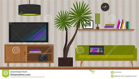 home interior vector living room home interior vector illustration stock vector image 52774510