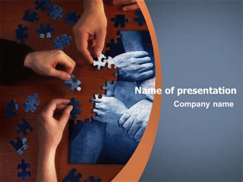 team building puzzle presentation template for powerpoint