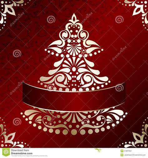 tarjeta de navidad elegante con el 225 rbol de navidad