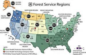forest service map forest service forest service region 5