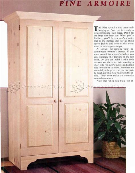 build armoire woodarchivist