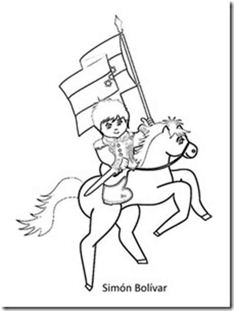 dibujos para colorear d simon bolivar dibujo de sim 243 n bol 237 var ni 241 o colorear y poema colorear