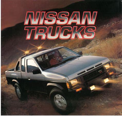 nissan pickup 1987 1987 nissan hardbody truck d21 dealer brochure us market
