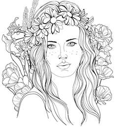 787 best beautiful women coloring pages for adults images