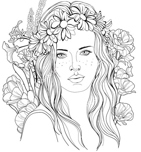 coloring pages of people s hair 794 best beautiful women coloring pages for adults images
