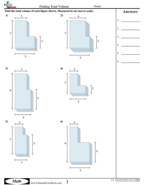Volume Of Shapes Worksheet by Volume Of Composite Figures Worksheet 8th Grade 13 Best