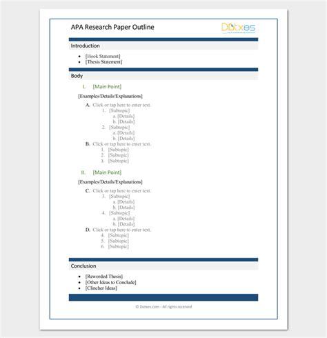 free apa template qualitative research paper template