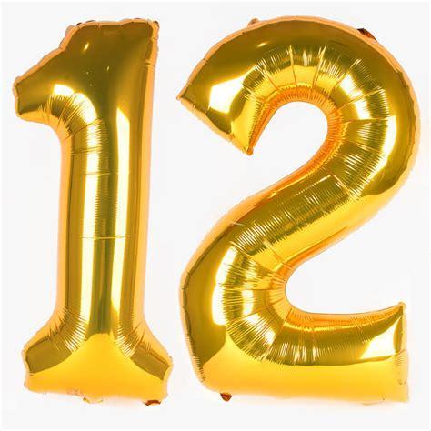 Number Foil Balloon decoration big foil balloon number gold children s