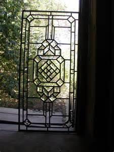 Beveled Glass Door Panels Abstract Leaded Glass Door Panel With Bevels