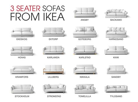 types of couches names which ikea 3 seater sofa is this