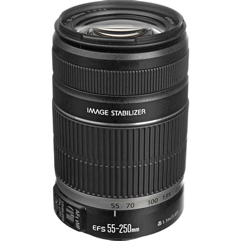 Lensa Zoom Canon 55 250mm canon ef s 55 250mm f 4 5 6 is ii lens 5123b006 b h photo