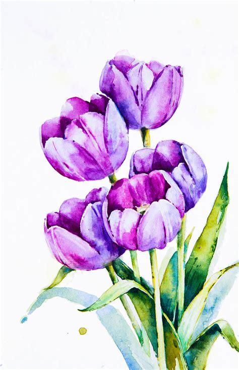 water color flower poetic realistic flowers watercolor paintings fubiz media