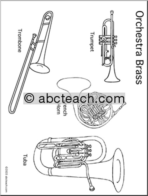 woodwind family coloring page brass family worksheet 1000 images about instrument