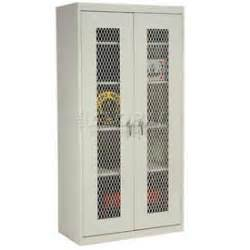 Locking Wall Cabinet Cabinets See Thru Door Expanded Metal Storage Cabinets