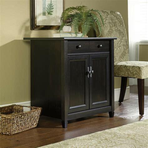 black buffet cabinet sideboard drawer storage wood shelf