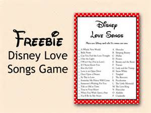 Kitchen Tea Games Ideas Free Disney Love Song Bridal Shower Game Bridal Shower