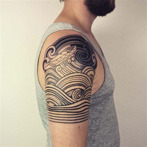 tribal wave tattoo meaning 90 remarkable wave designs the best depiction of