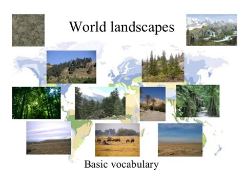 Landscape Vocabulary World Landscapes Basic Vocabulary