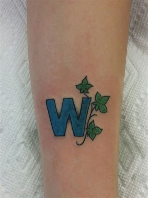 chicago cubs tattoo chicago cubs quot w quot joejuggie tattoos cubs