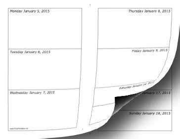 Calendar Printable Weekly 2015 Printable 2015 Weekly Calendar
