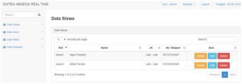 membuat web absensi online dengan php dan mysql sigit dwi prasetyo personal portfolio
