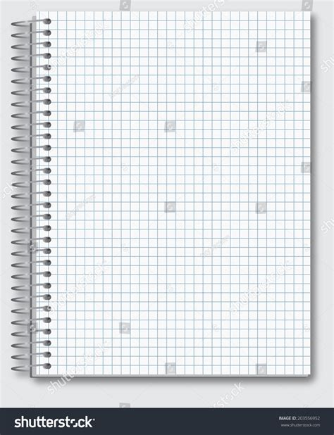 Vector Template Spiral Realistic Math Notebook Stock Vector 203556952 Shutterstock Spiral Notebook Template For Microsoft Word