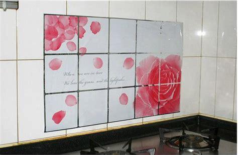 stiker wallpaper dinding dapur jual stiker wallpaper dinding dapur motif bunga mawar