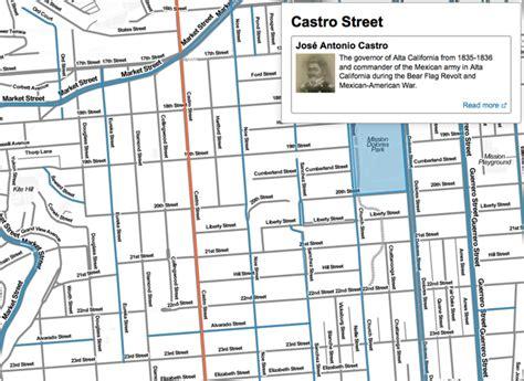 san francisco map interactive interactive map reveals origins of san francisco place names