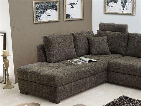wohnzimmer braun grau polsterecke aurum braun grau 267x221cm bettfunktion sofa
