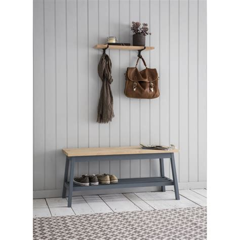 hallway storage bench uk garden trading clockhouse hallway bench charcoal black