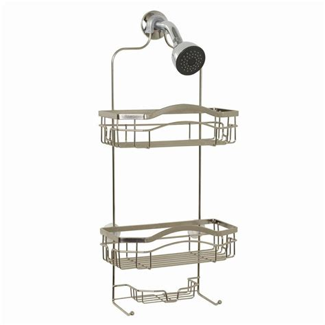 Zenna Home Premium Over The Shower Caddy In Stainless Stainless Steel The Door Shower Caddy